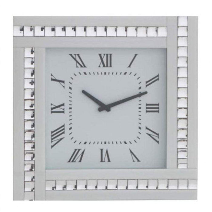 Pharmore Classic Crystal Square White Clock
