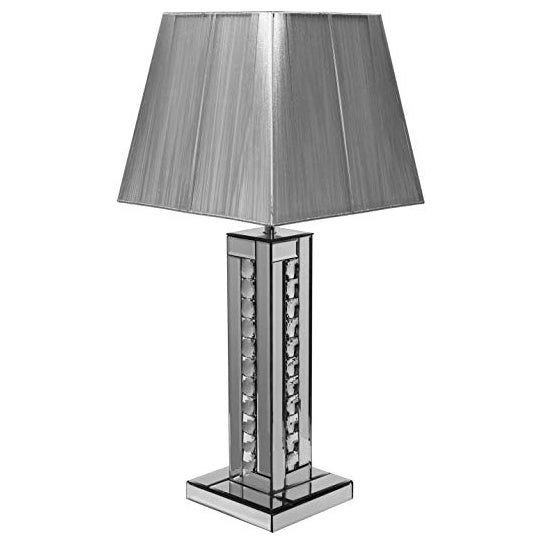 Pharmore Crystal Silver Table Lamp