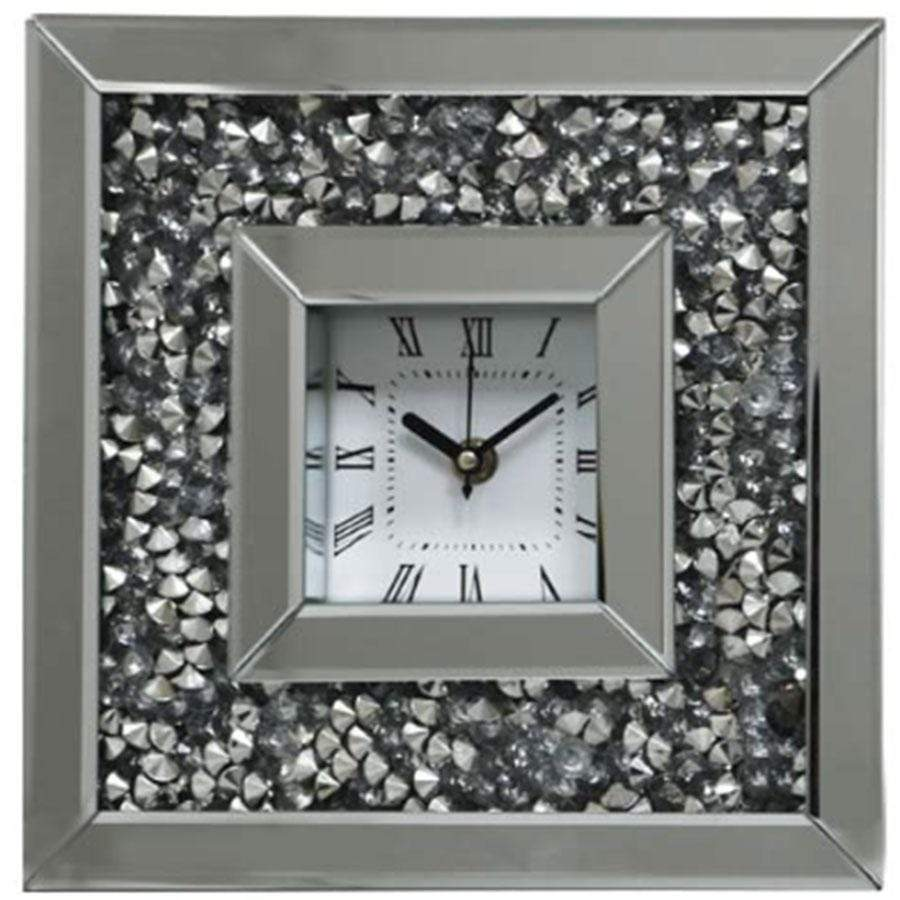 Pharmore Gatsby Crushed Diamond Table Clock
