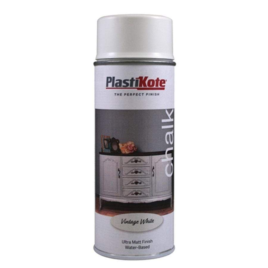 Plastikote Chalk 400ml Vintage White