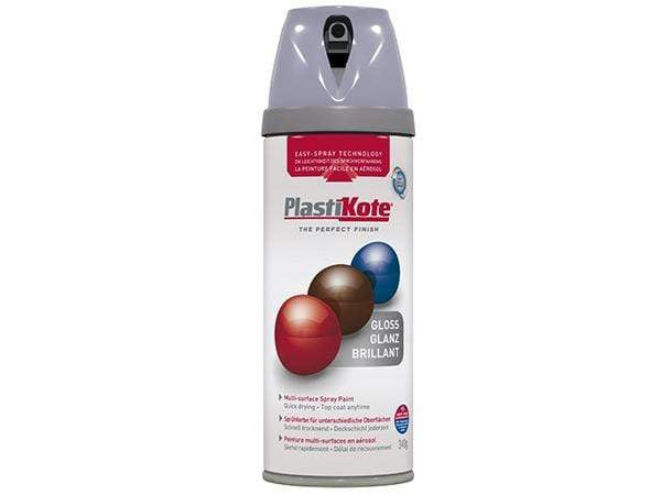 Plastikote Twist and Spray Gloss Aluminium Paint