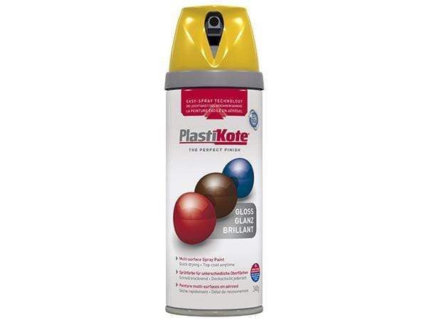 Plastikote Twist and Spray Gloss Yellow Paint