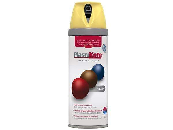 Plastikote Twist and Spray Satin Daffodil Paint
