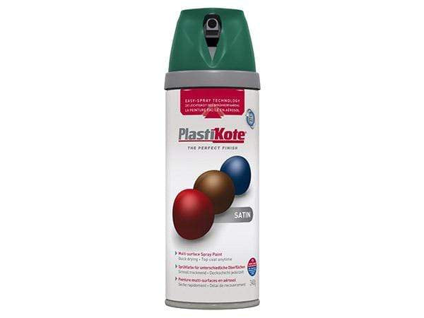 Plastikote Twist and Spray Satin Hunter Green Paint