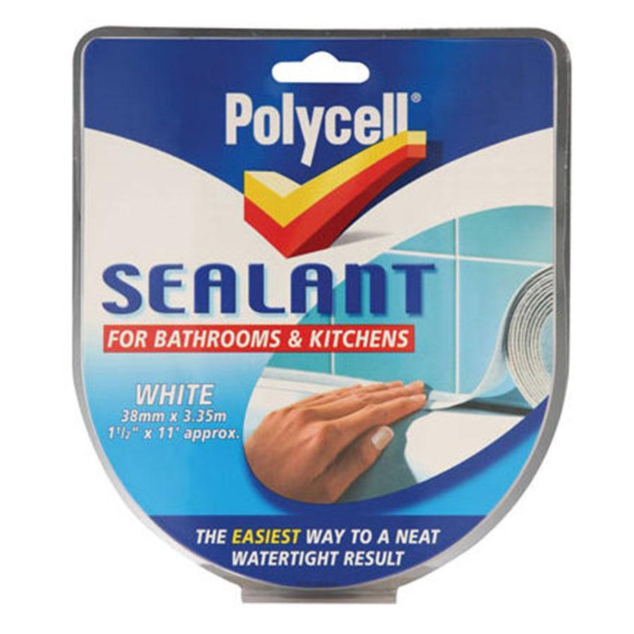 Polycell Superbend Seal Strips White - 41mm