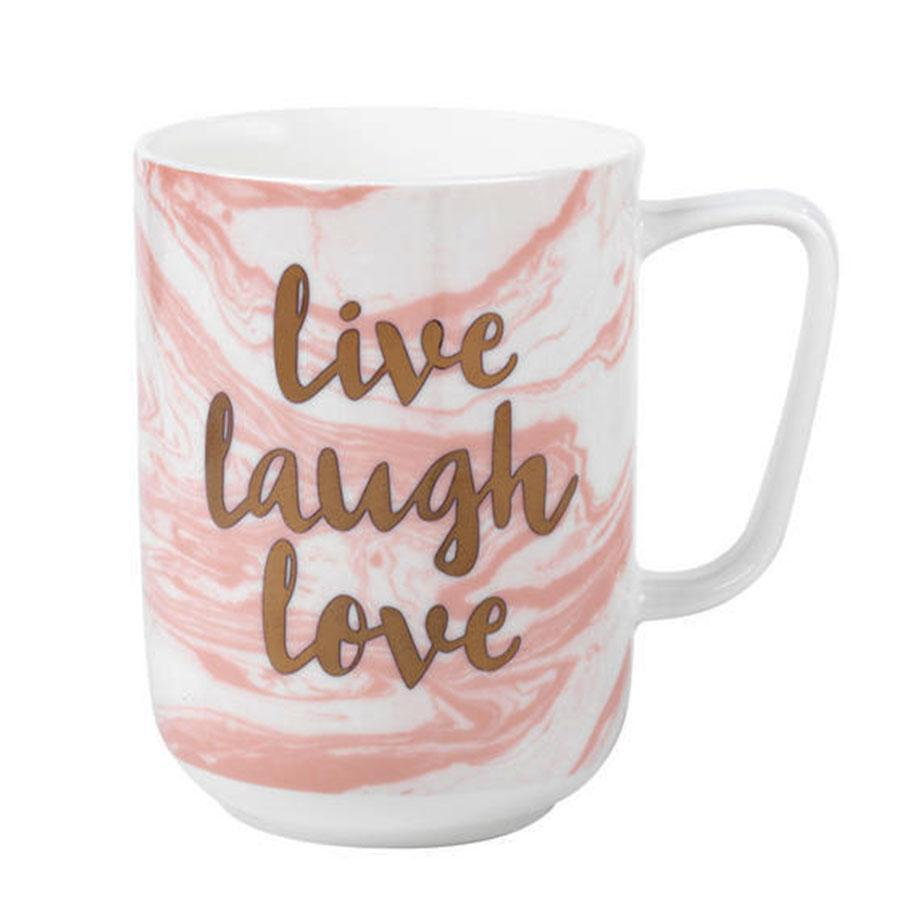 Portobello Live Laugh Love Devon Marble Mug