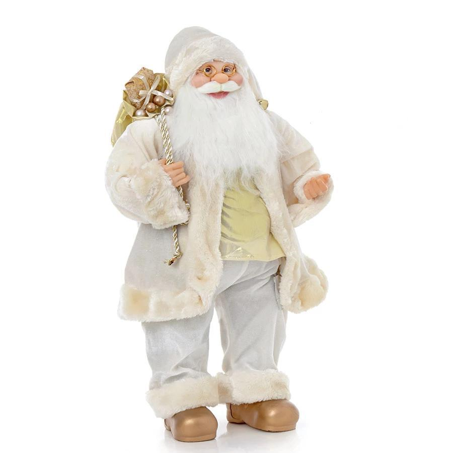 Premier Gold Standing Santa with Presents 60cm