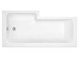 Premier Square 1700mm Left Hand Shower Bath