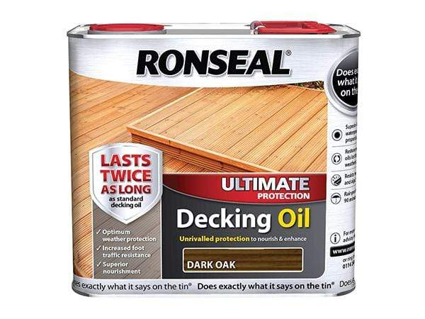 Ronseal 2.5 Litre Dark Oak Ultimate Deck Oil