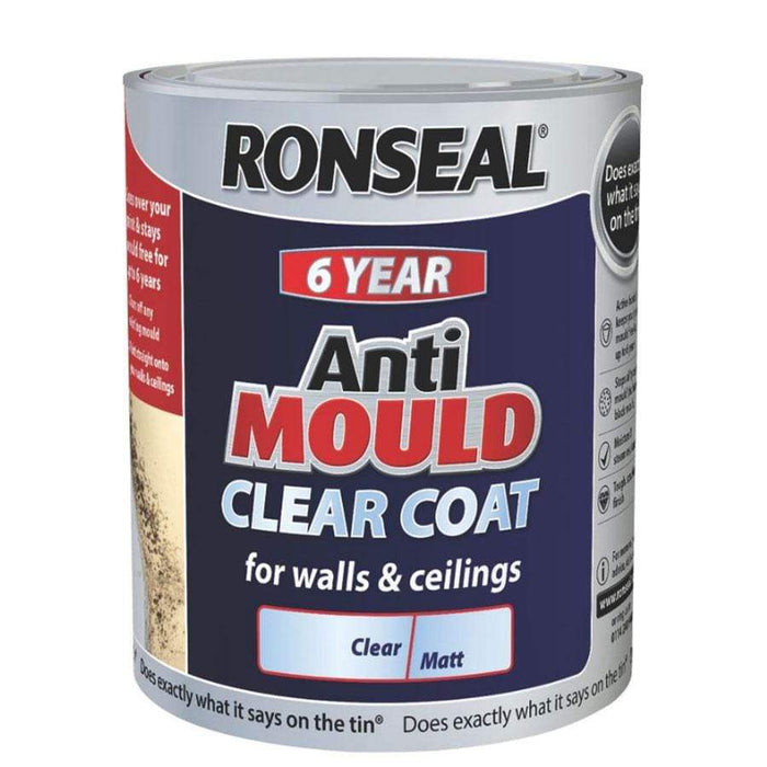 Ronseal 6 Year Clear Anti-Mould Paint 2.5 Litre