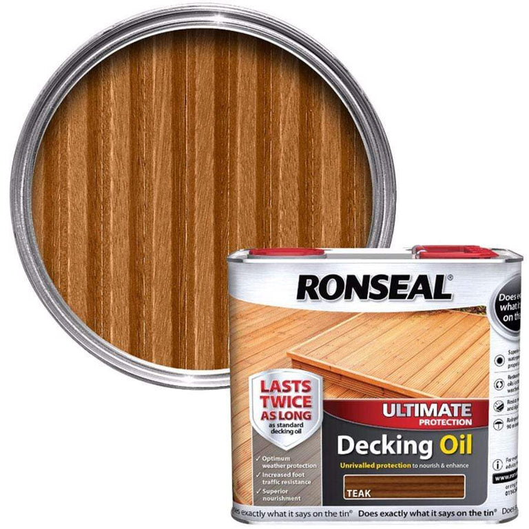 Ronseal Teak Ultimate Decking Oil 2.5 Litre