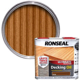 Ronseal Teak Ultimate Decking Oil 5 Litre