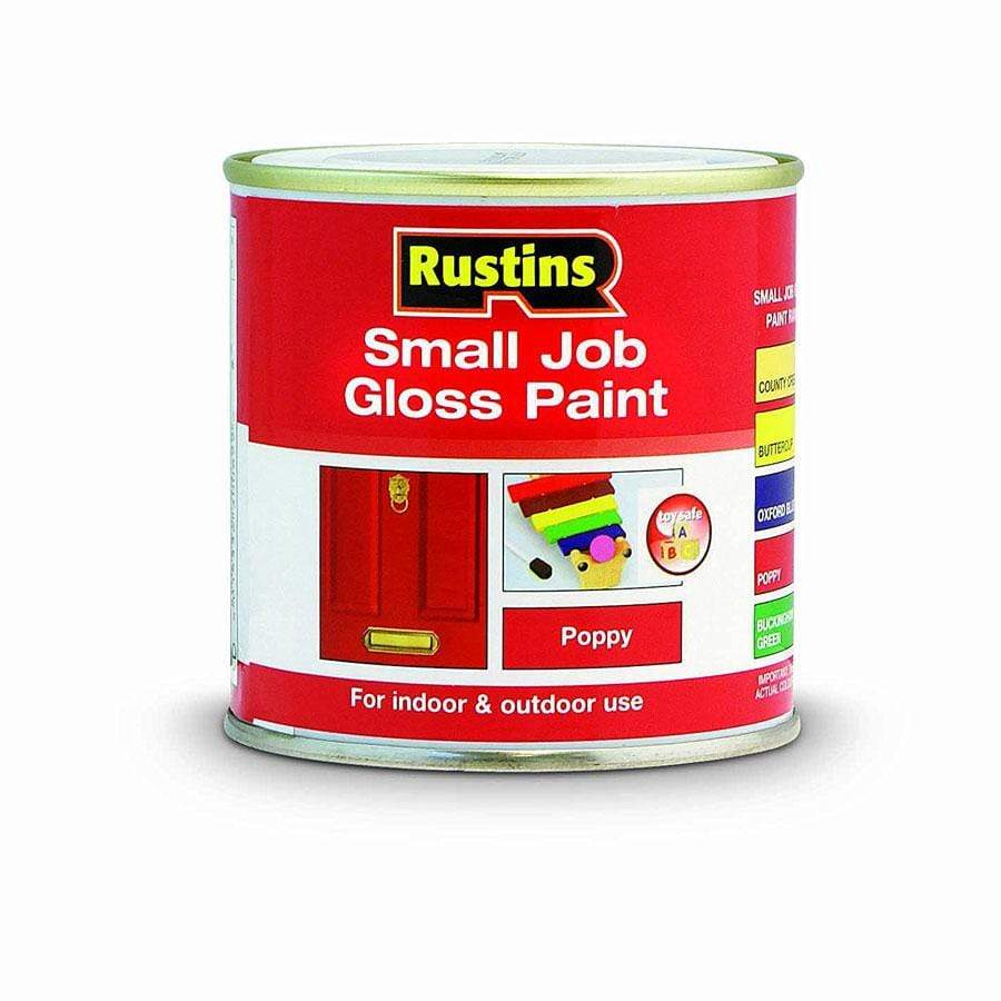 Rustins Quick Dry Small Job Poppy Gloss 250ml