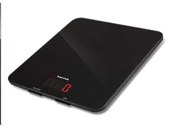 Salter Black Glass Electronic Scales