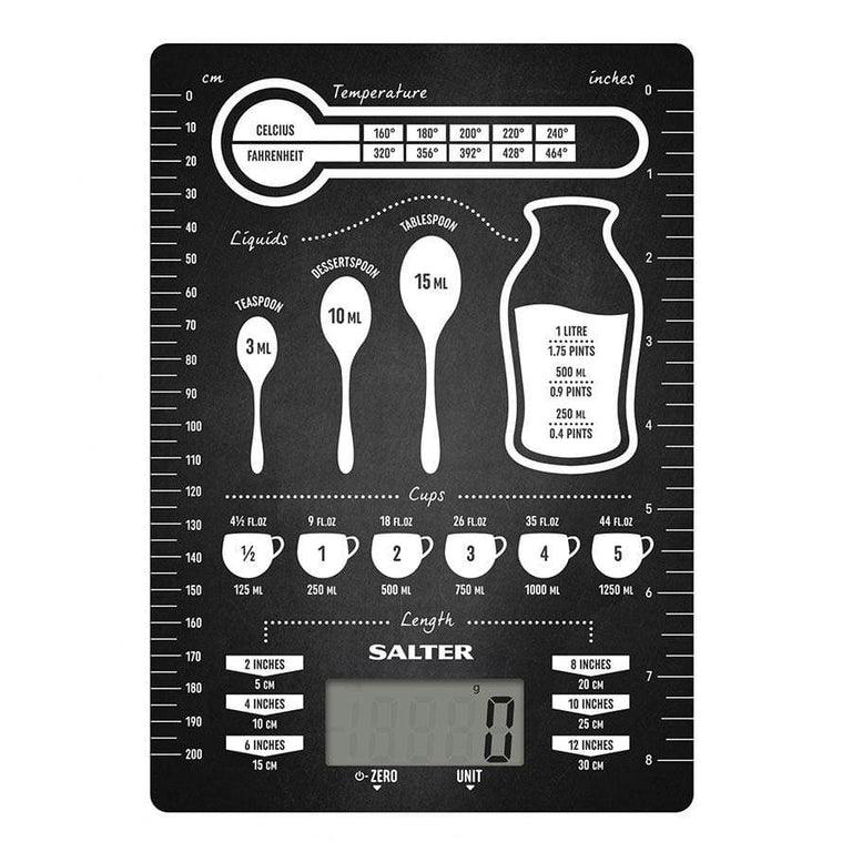 Salter Conversions Digital Kitchen Scales - Black