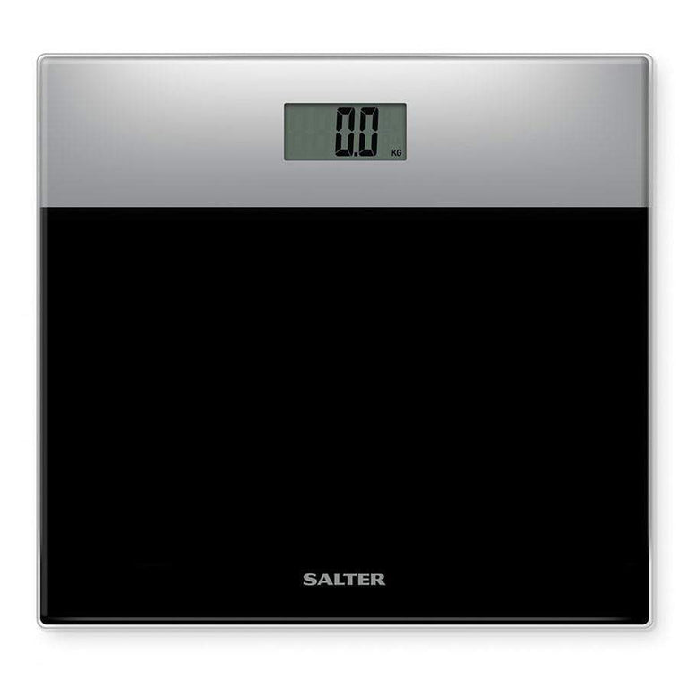 Salter Glass Electronic Bathroom Scale - Silver/Black