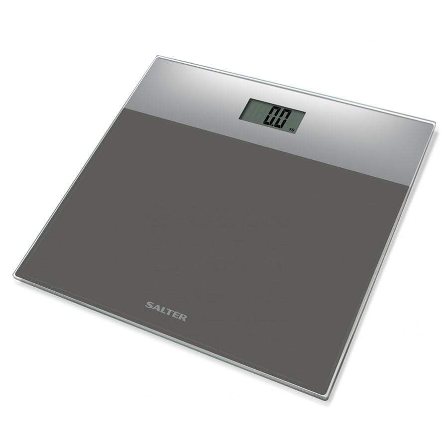 Salter Glass Electronic Bathroom Scale - Silver/Grey