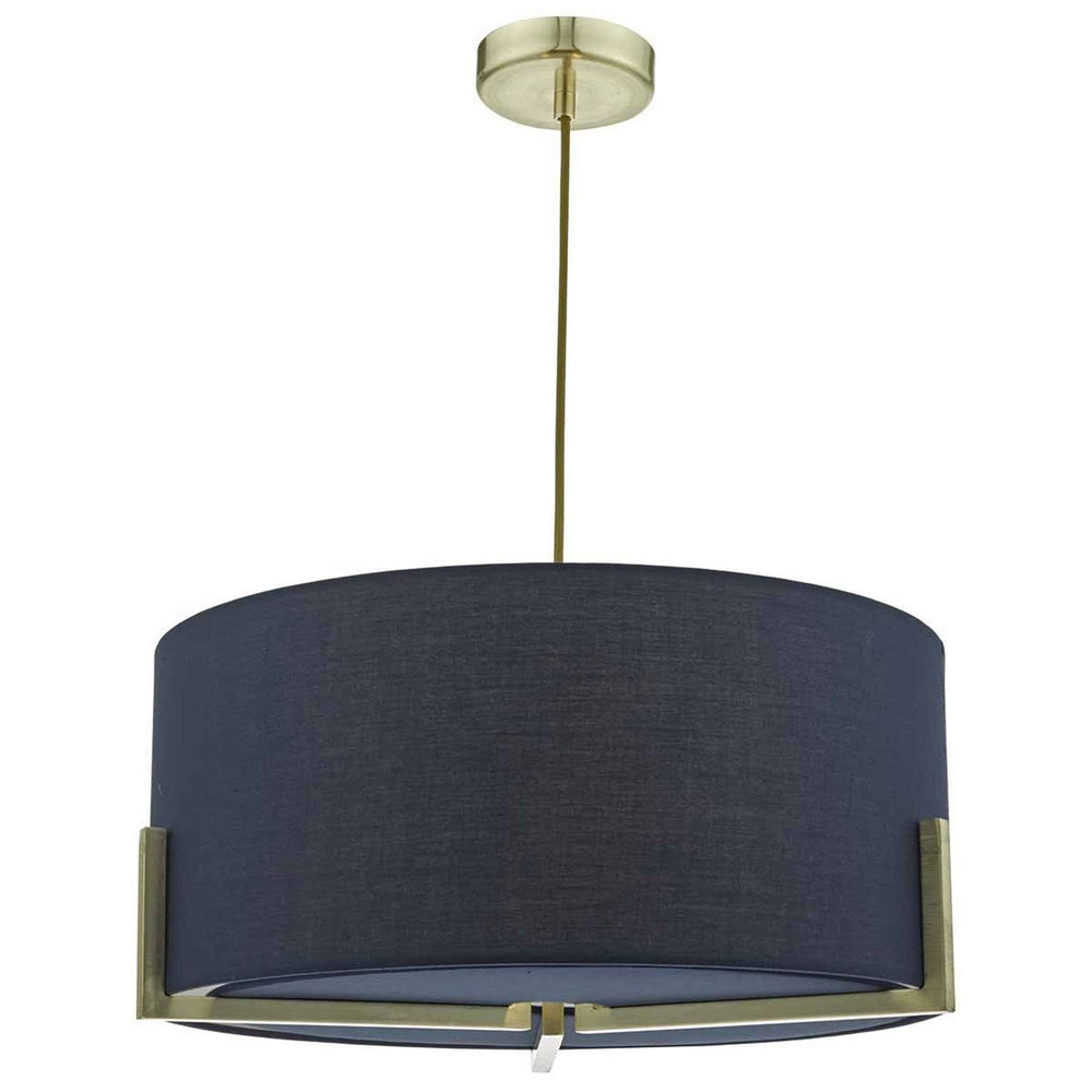 Santino Gold Pendant with Navy Cotton Shade - SAN0323 Santino Gold Pendant with Navy Cotton Shade - SAN0323