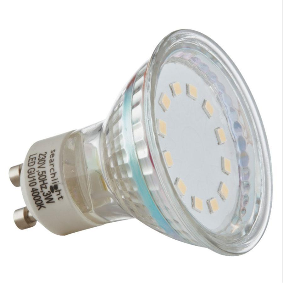 Searchlight LED GU10 3W Cool White Bulb