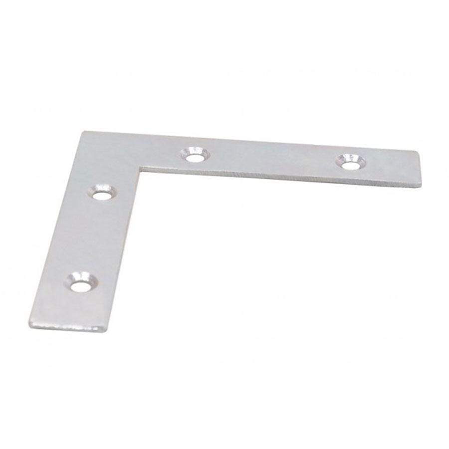 Select Angle Plates Bright Zinc Plated 50mm - 6 Pack