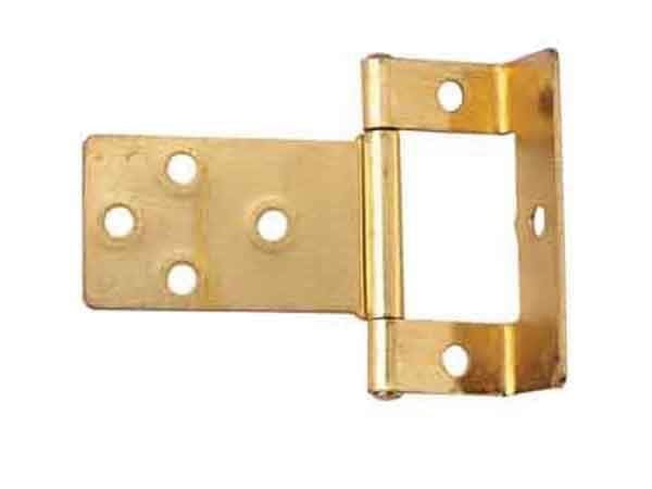 Select Flush Hinges Cranked Electro Brass 16mm x 50mm