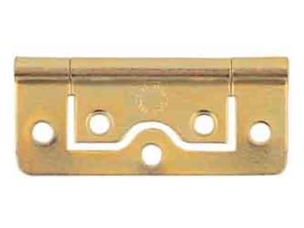 Select Flush Hinges Electro Brass 50mm