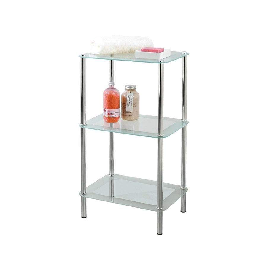Showerdrape 3 Tier Glass Shelf Unit