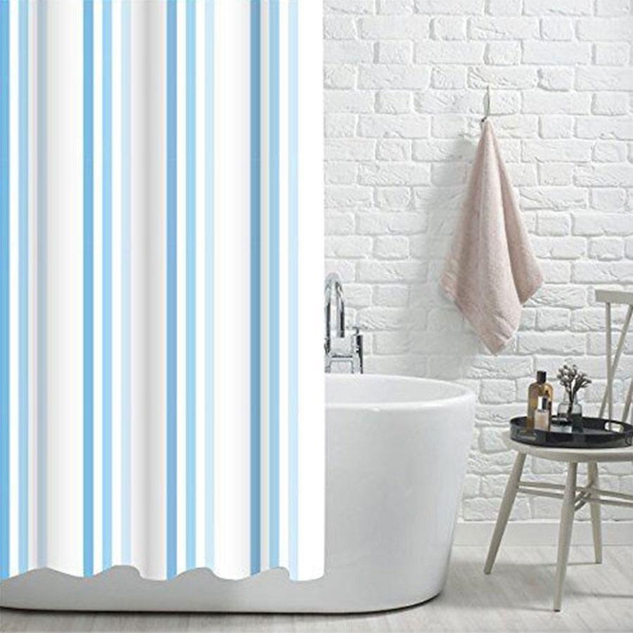 Showerdrape Brighton Rock Shower Curtain Blue