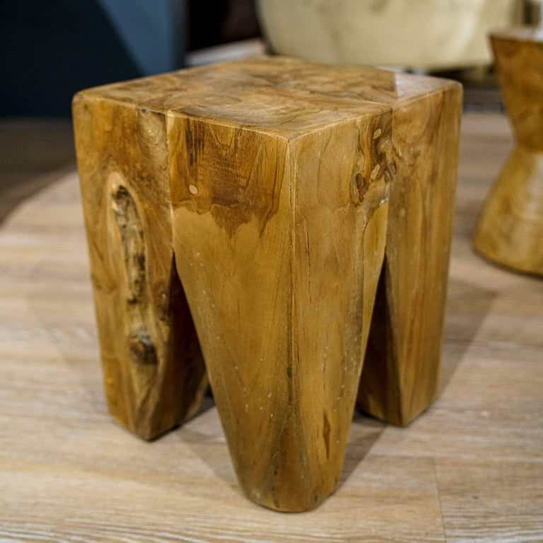 Square Stool / Side Table Natural