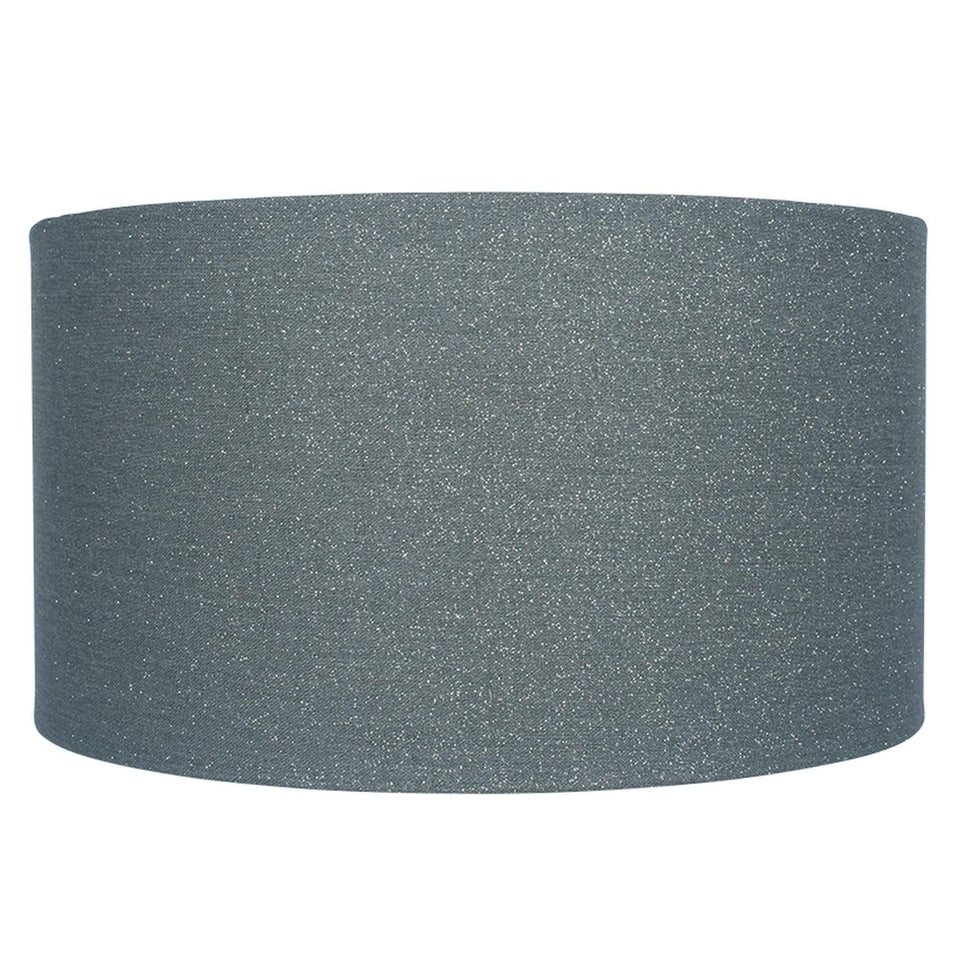 Steel Glitter Cylinder Poly Cotton Shade - 30cm Steel Glitter Cylinder Poly Cotton Shade - 30cm
