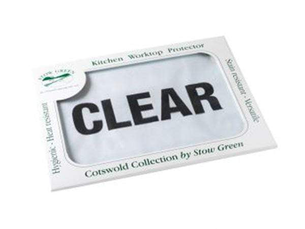 Stow Green Medium Clear Glass Worktop Saver