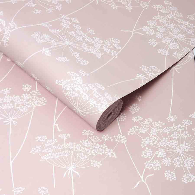 Superfresco Aura Pink Floral Glitter Wallpaper - 106575