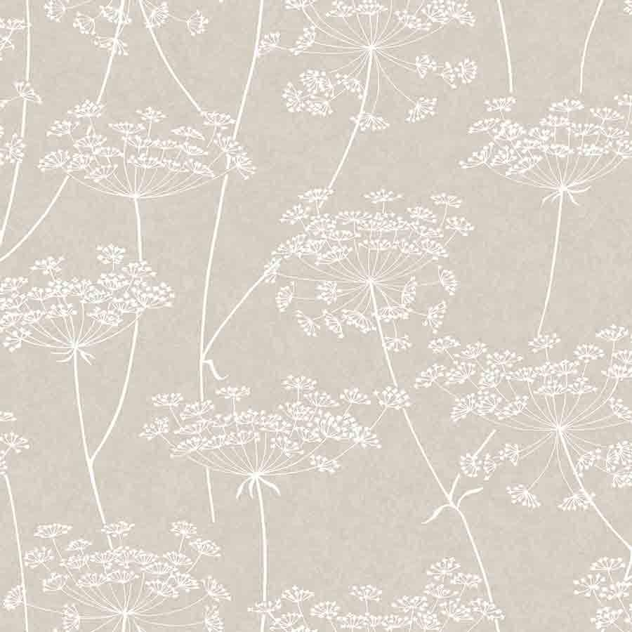 Superfresco Aura Taupe Floral Glitter Sample - 33-301