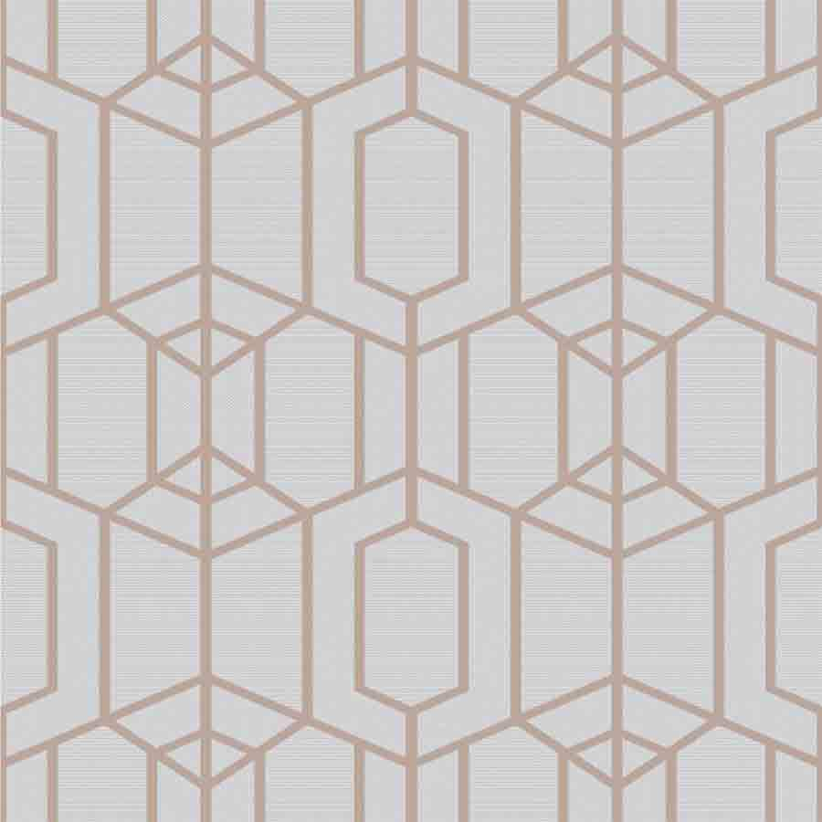 Superfresco Grey Albany Textured Geometric Wallpaper - 106582