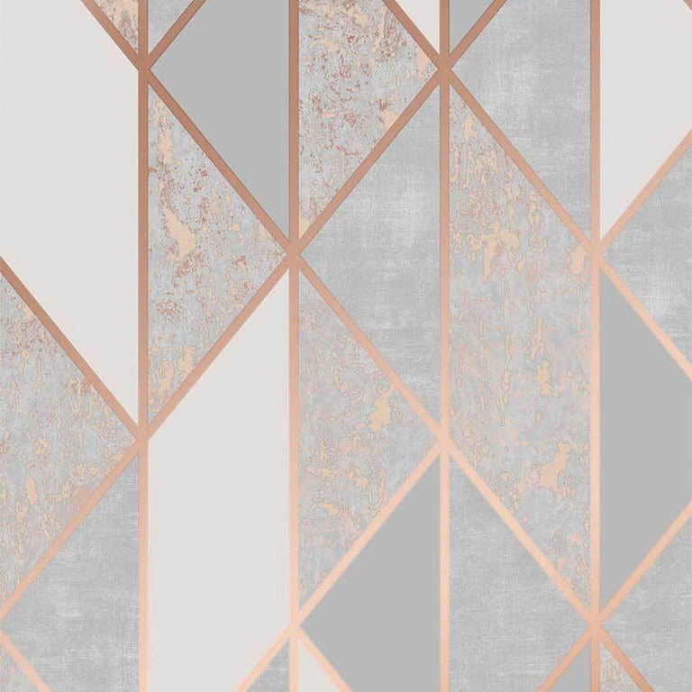 Superfresco Milan Geo Rose Gold Wallpaper Sample - 106407