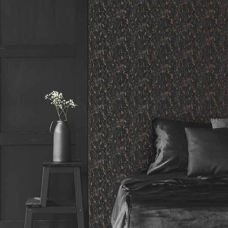 Superfresco Milan Textured Rose Gold & Charcoal Wallpaper - 107969 Superfresco Milan Textured Rose Gold & Charcoal Wallpaper - 107969