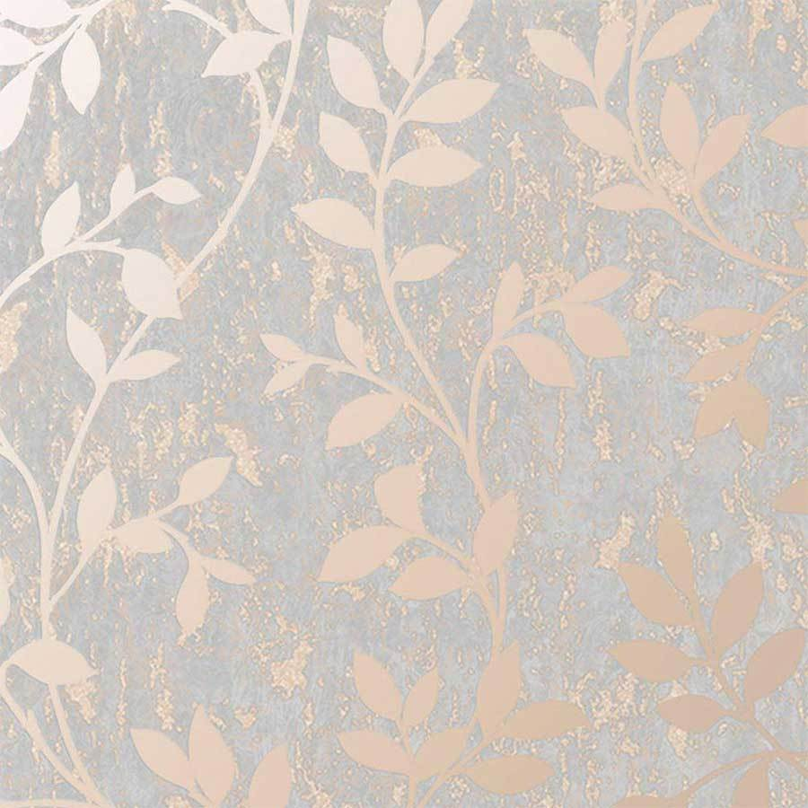 Superfresco Milan Trail Rose Gold Wallpaper Sample - 106402