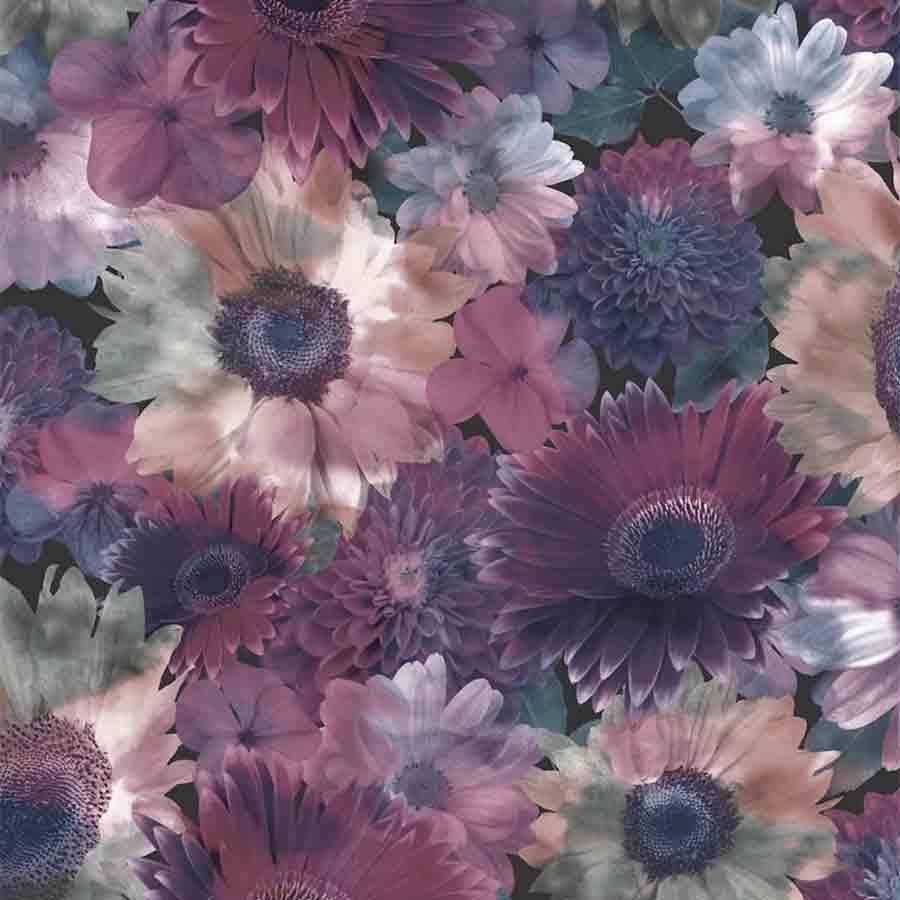 Superfresco Purple Midnight Garden Floral Sample - 104895