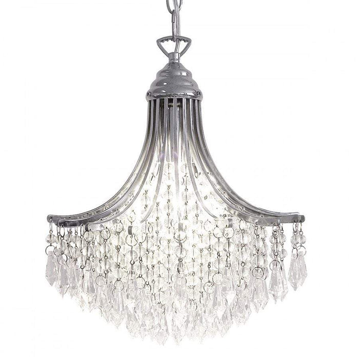Suri 1 Light Pendant Crystal Polished Chrome