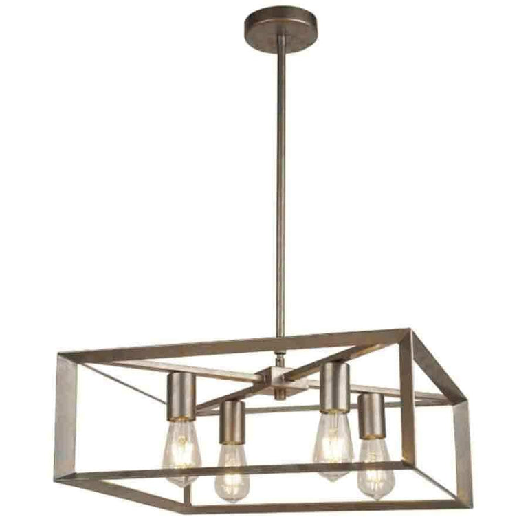 TAS 2414-4SI Brush Silver/Gold 4 Light Pendant