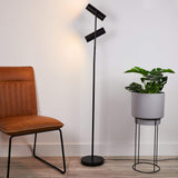 TAS 2792BK Telescope Matt Black Floor Lamp