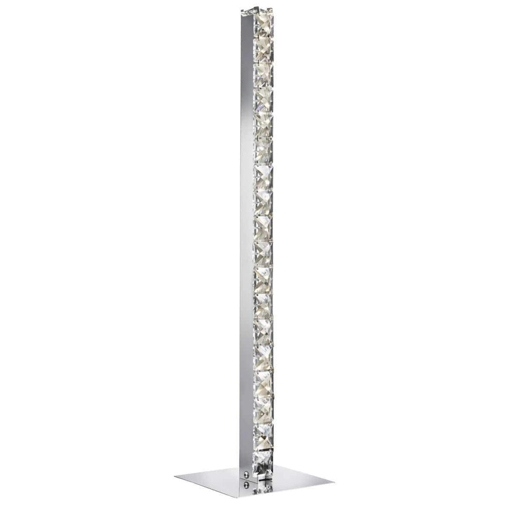 Picture of: Tas 7023cc Chrome Crystal Column Led Table Lamp Taskers