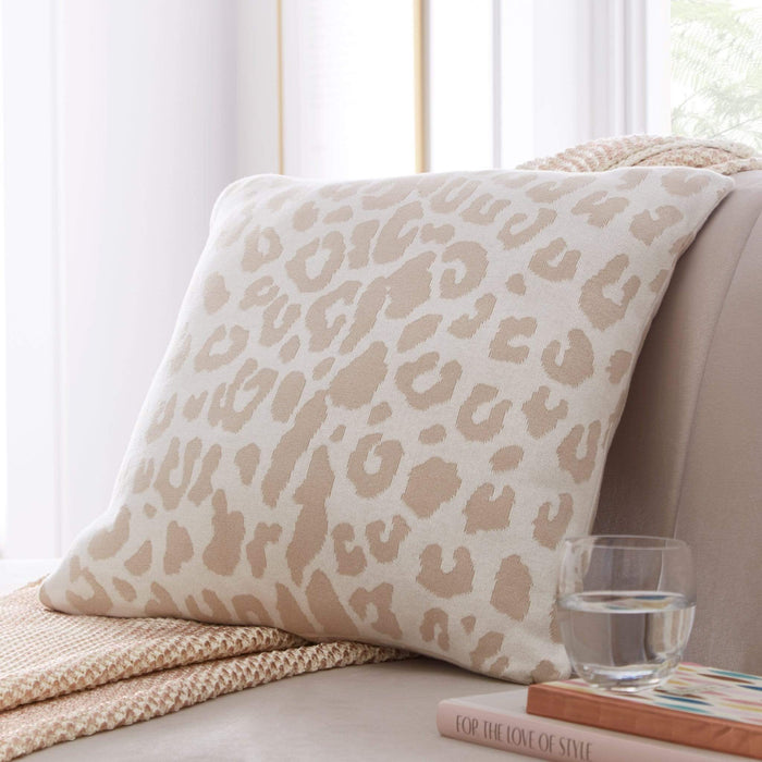 Tess Daly Leopard Knit Cushion Tess Daly Leopard Knit Cushion