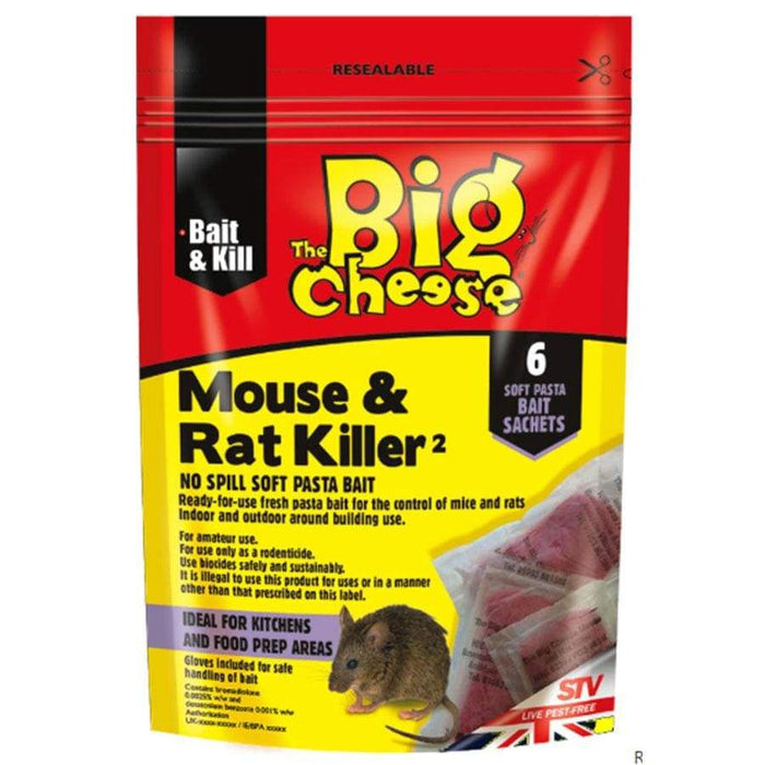 The Big Cheese Mouse & Rat Killer2 Bait - 6 Pack
