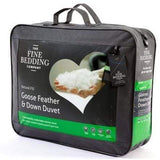 The Fine Bedding Company Goose Feather and Down 4.5 Tog Duvet Single Duvet