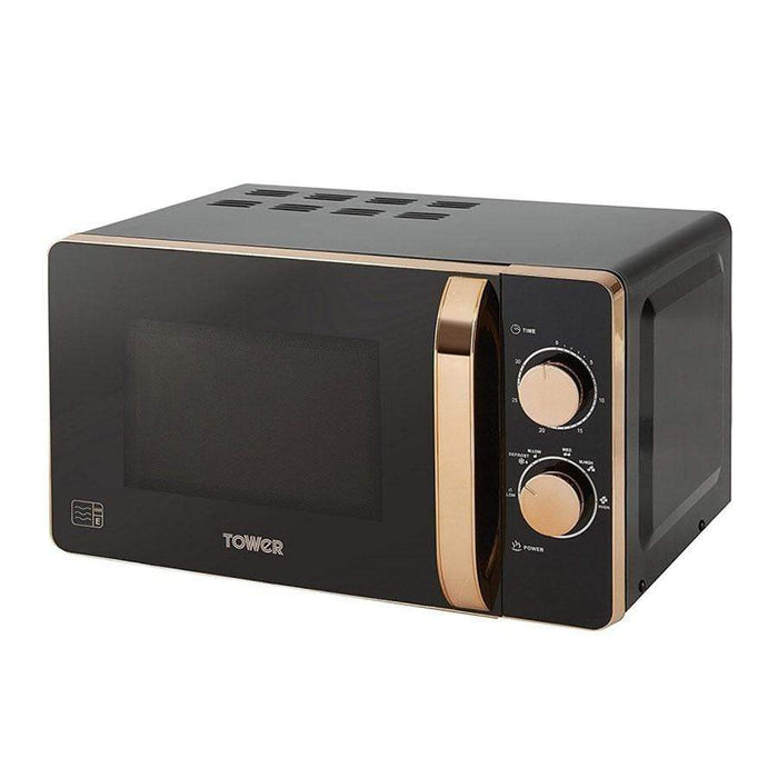 Tower Black & Rose Gold Microwave