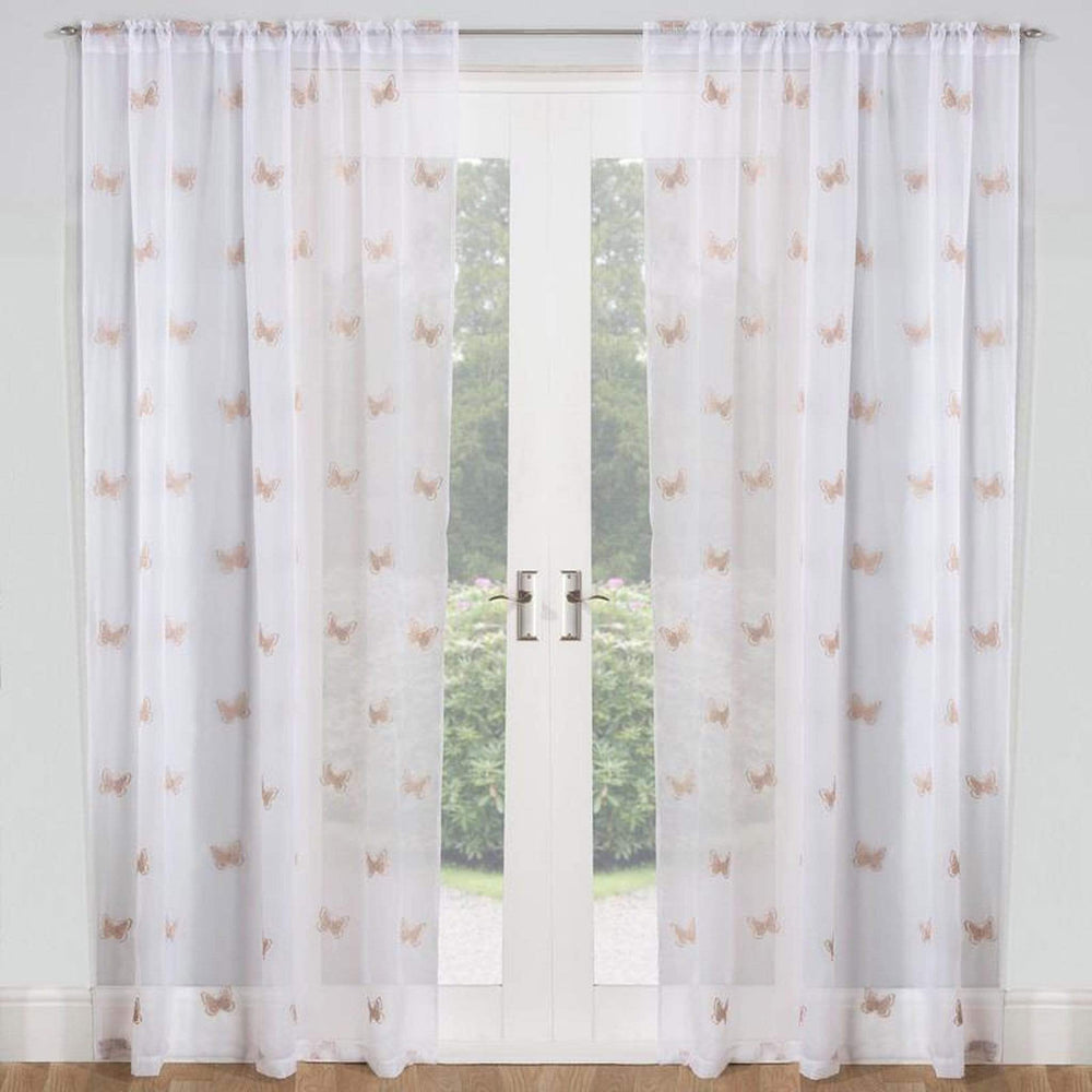 Tyrone Birch Panel Silver Curtains