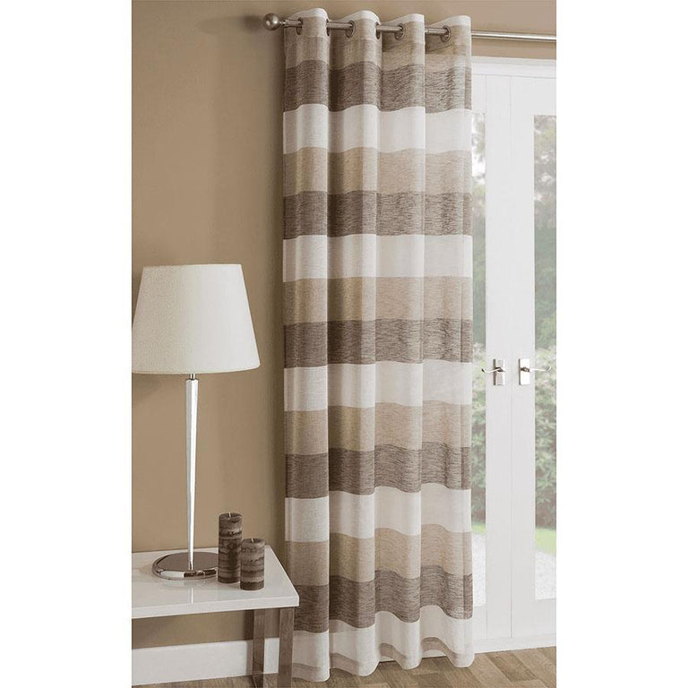 Tyrone Mykonos Panel Curtain Natural 90 inch