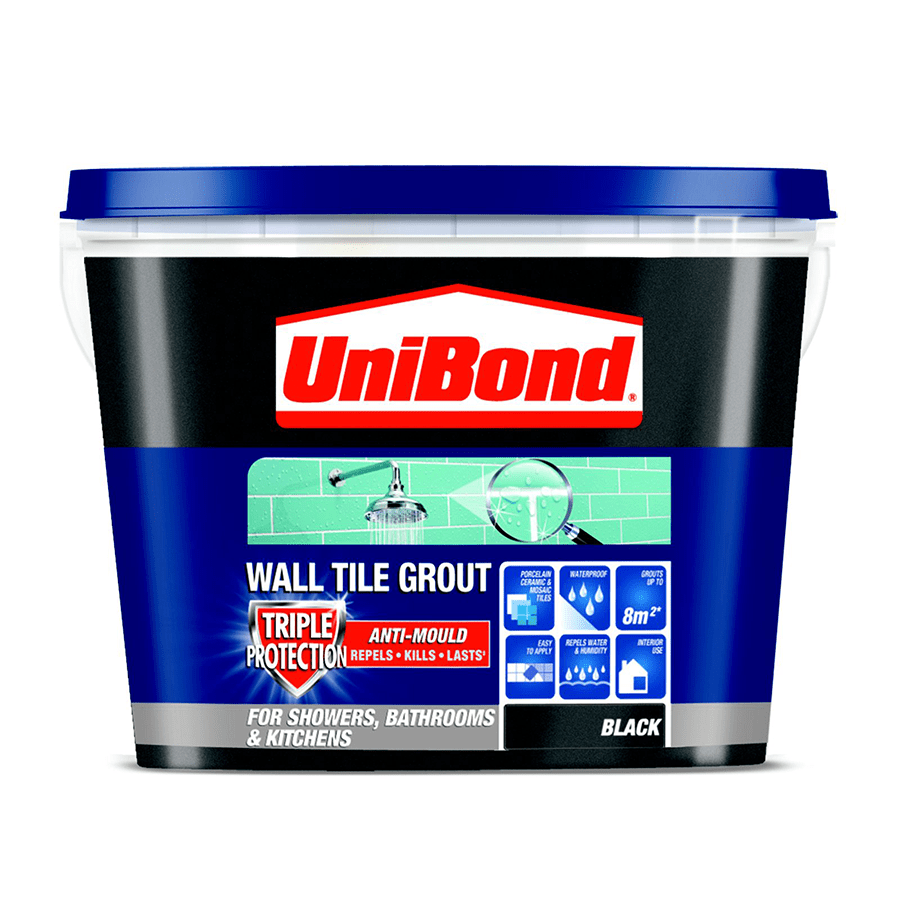 Unibond Ready Mixed Wall Tile Grout Black