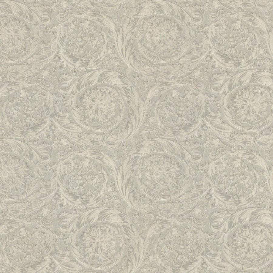 Versace Barocco Metallic Champagne Wallpaper Sample - 36692-1 Versace Barocco Metallic Champagne Wallpaper Sample - 36692-1